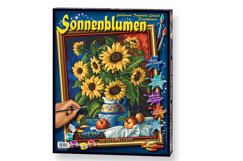 Malen nach Zahlen - Sonnenblumen
