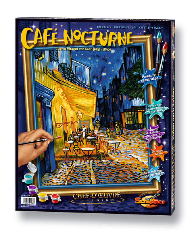 Malen nach Zahlen - Nachtcafe