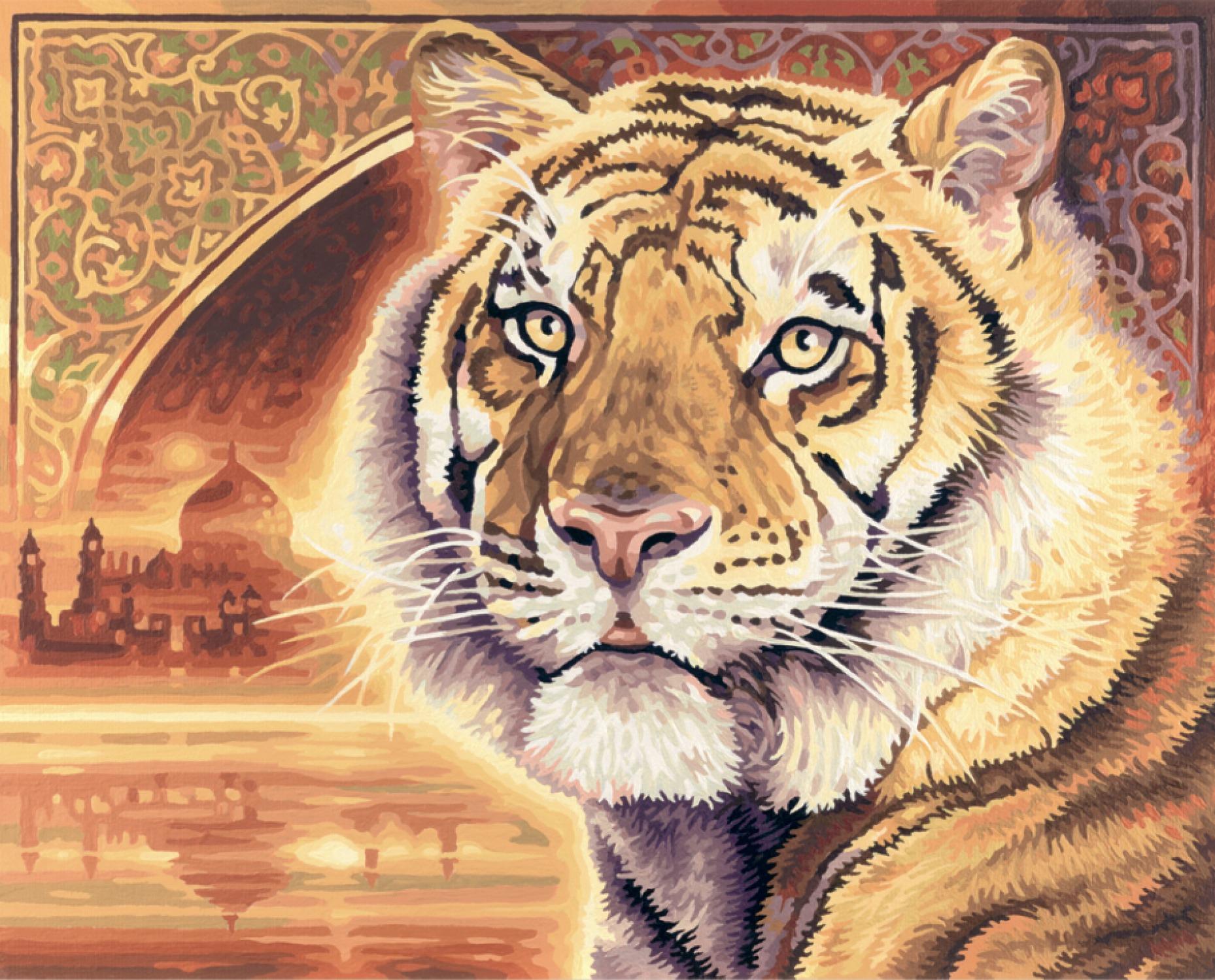 Malen nach Zahlen - Bengalischer Tiger