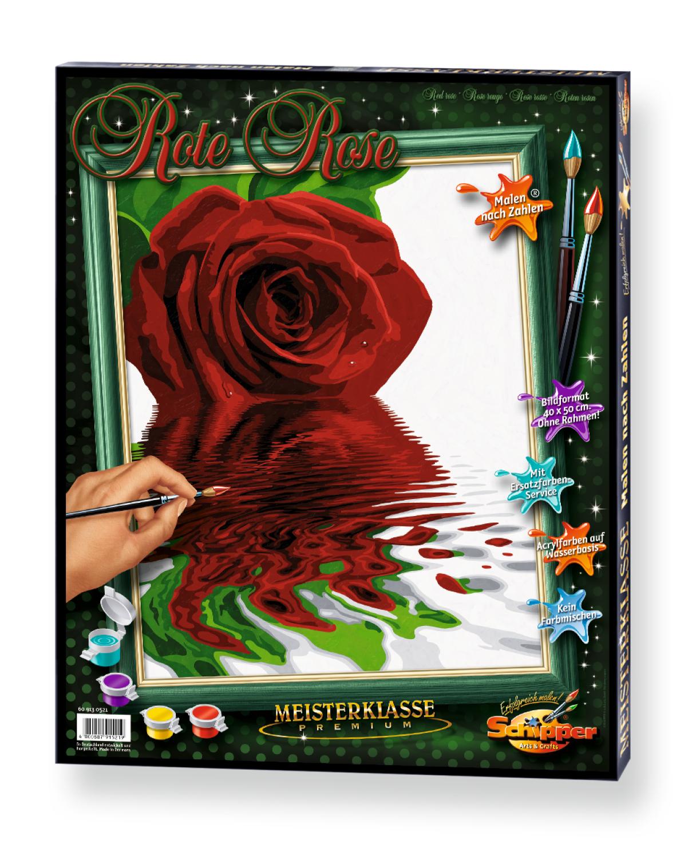Malen nach Zahlen - Rote Rose