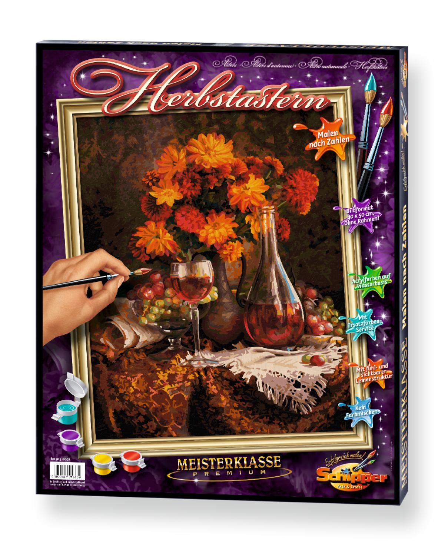 Malen nach Zahlen - Herbstastern