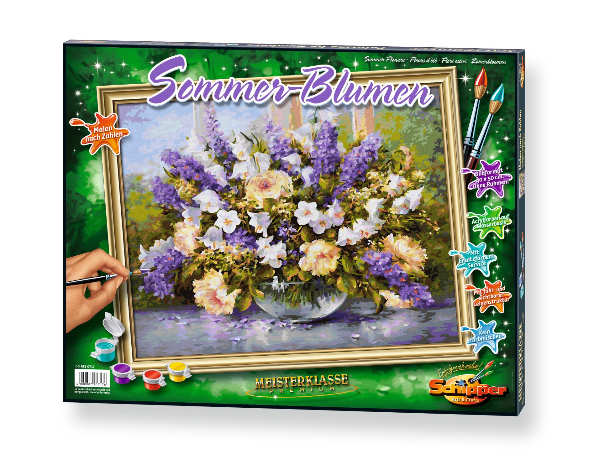 Malen nach Zahlen - Sommerblumen