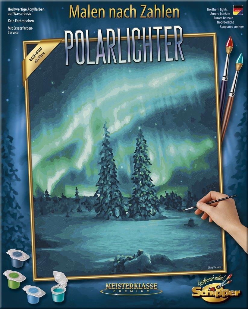 Malen nach Zahlen - Polarlichter
