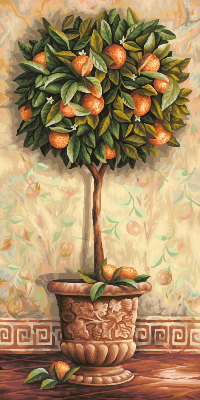 Malen nach Zahlen - Citrus Orange
