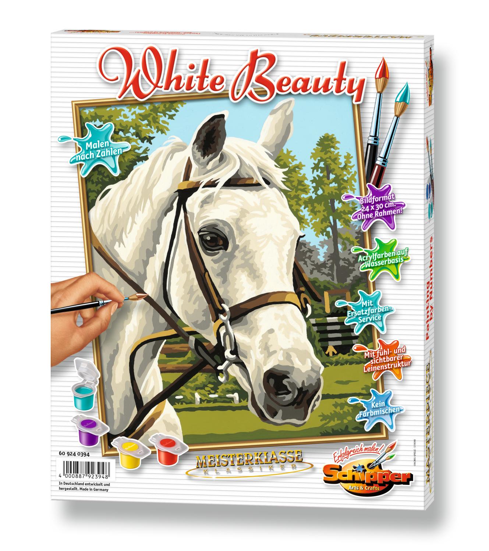 Malen nach Zahlen - White Beauty Pferd