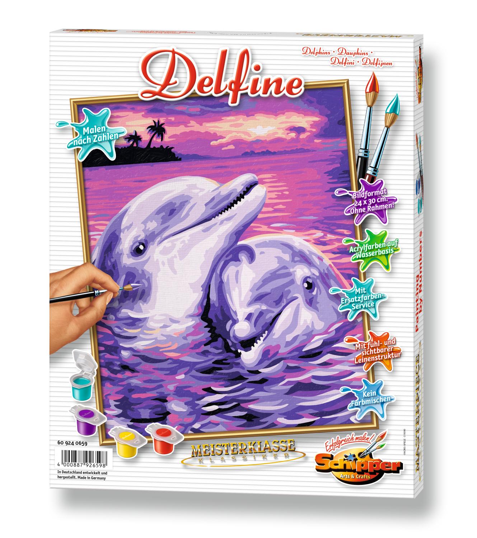 Malen nach Zahlen - Delfine