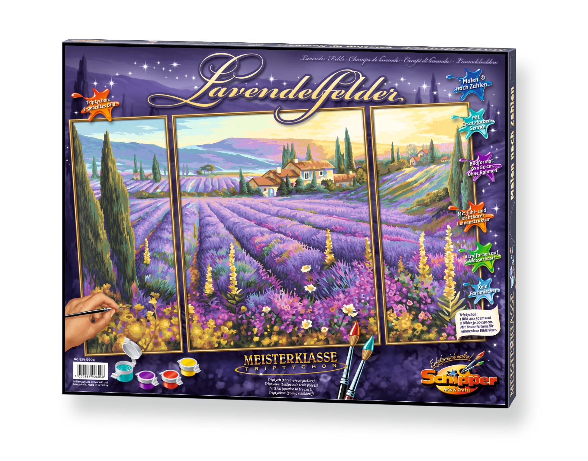 Malen nach Zahlen - Lavendelfelder