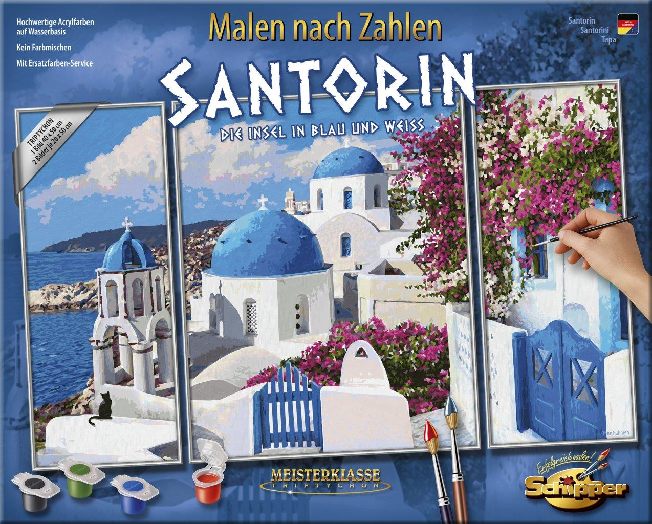 Malen nach Zahlen - Santorin