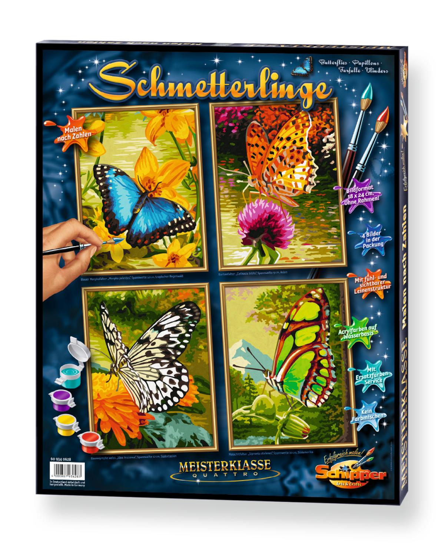 Malen nach Zahlen - Schmetterlinge