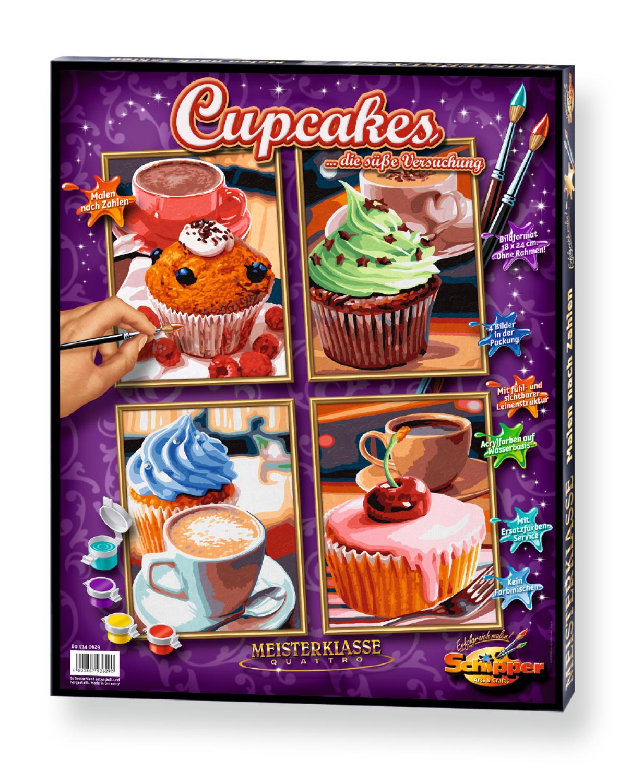 Malen nach Zahlen - Cupcakes