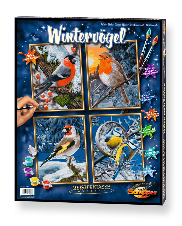 Malen nach Zahlen - Wintervögel