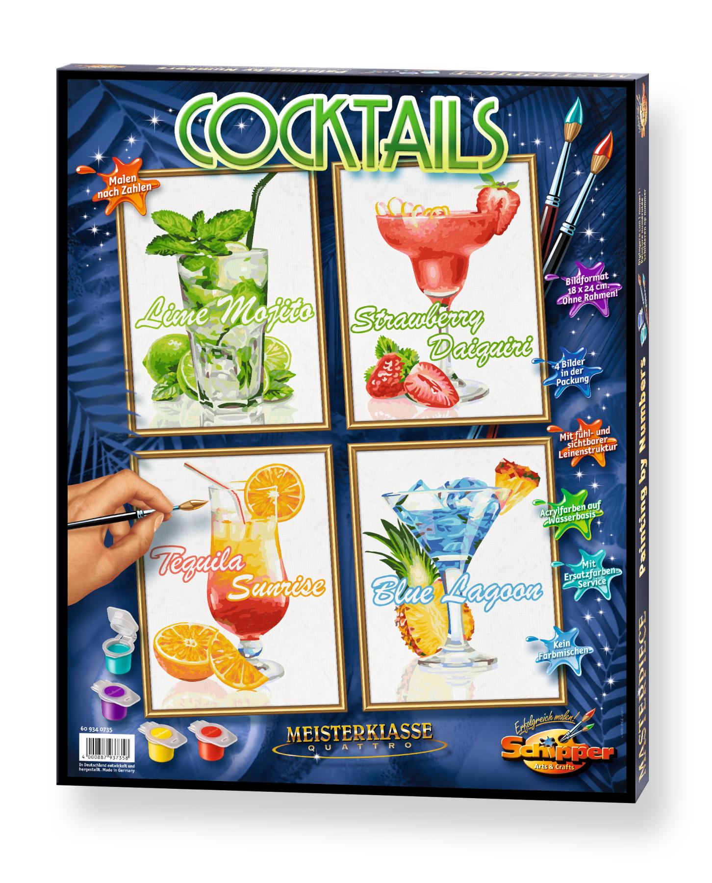 Malen nach Zahlen - Cocktails