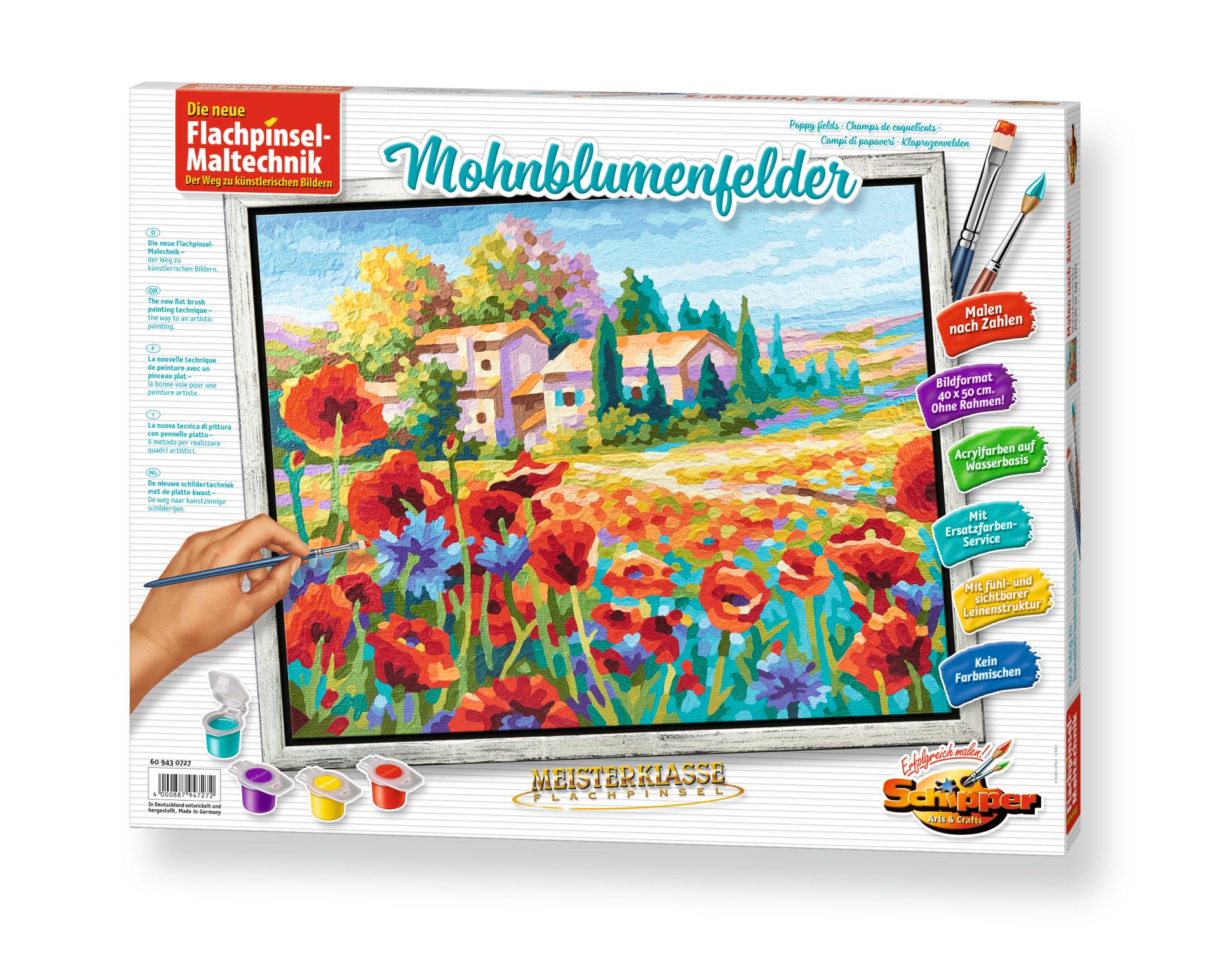 Malen nach Zahlen - Mohnblumenfelder