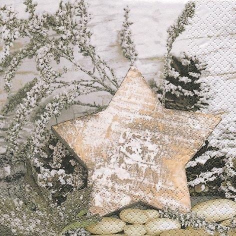 Wooden Star - Servietten 33x33
