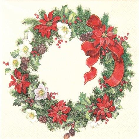 Christmas Wreath - Servietten 33x33