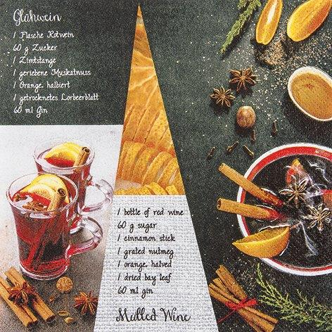 Mulled Wine Recipe - Servietten 33x33