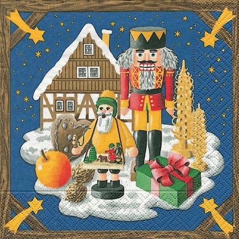 Weihnachtsland - Servietten 33x33