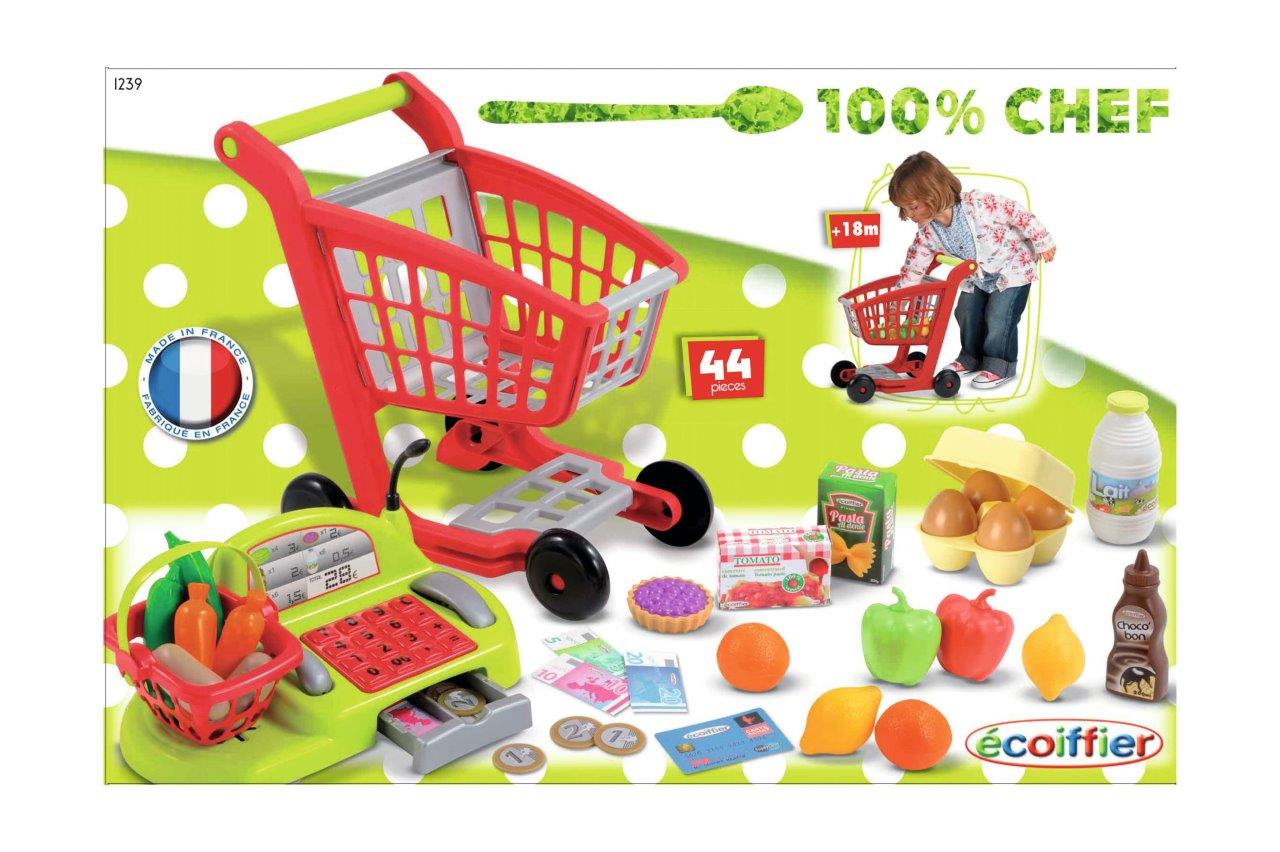 Supermarkt - Trolley mit Kasse 44tlg.