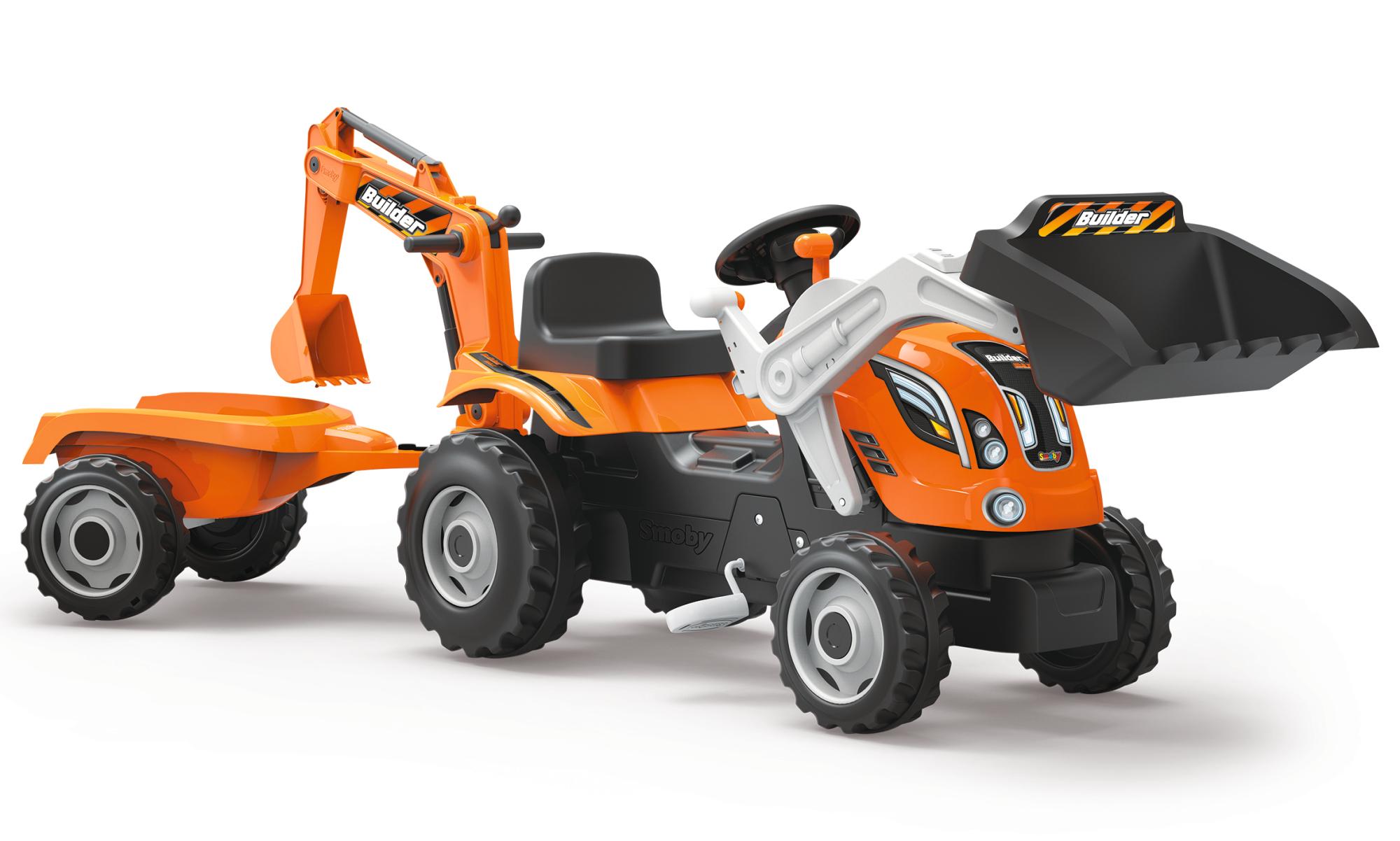 Smoby Traktor Builder Max mit Heckbagger
