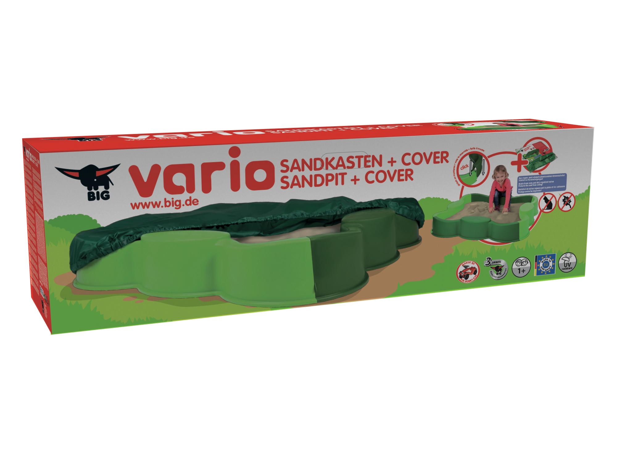 big vario sandkasten mit abdeckplane