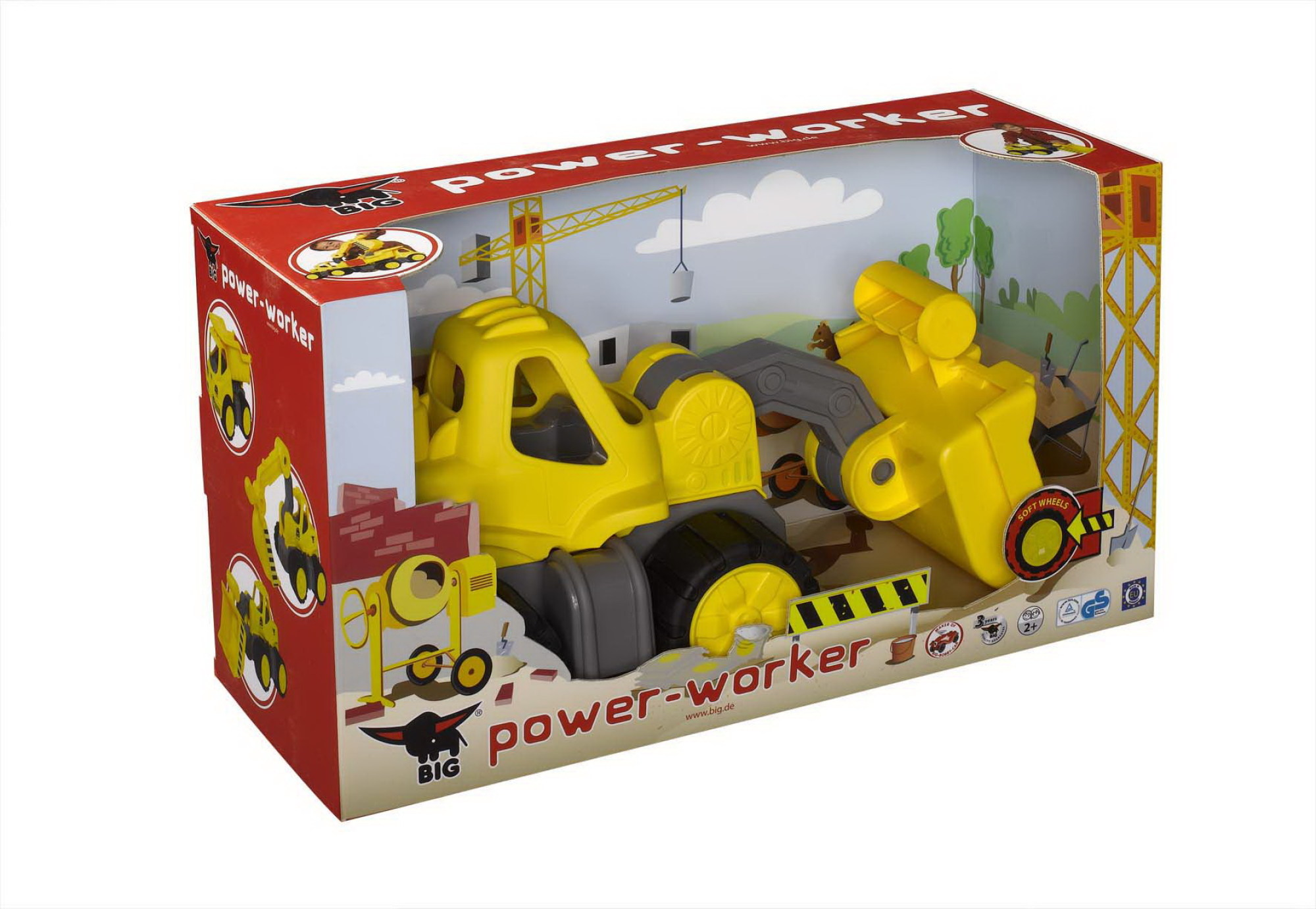 big power worker radlader