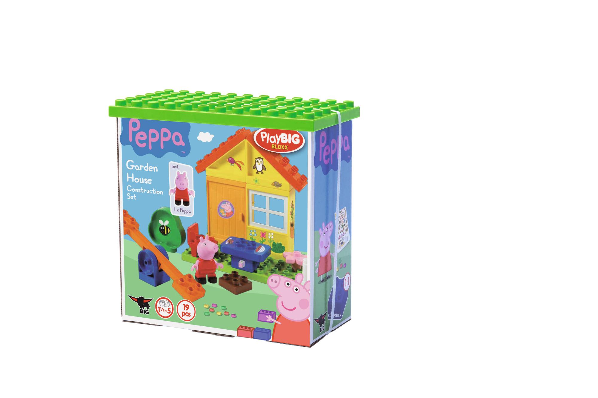 playbig bloxx peppa pig gartenhaus