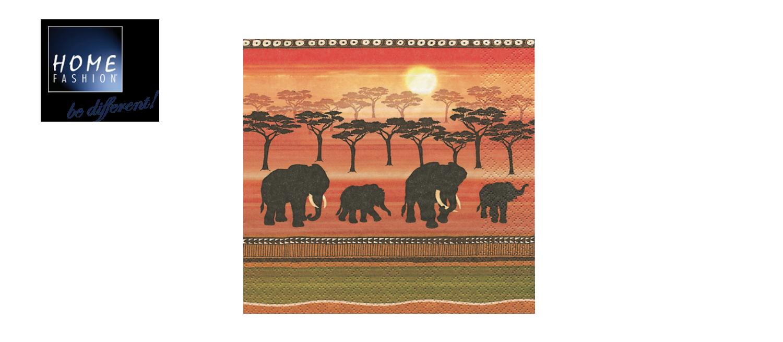 African Spirit - Servietten 33x33