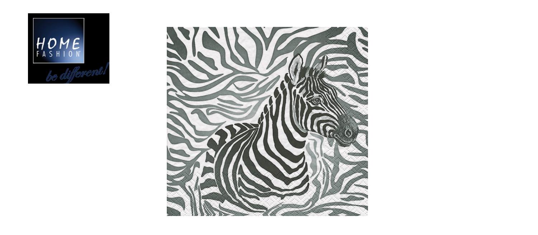 Zebra - Servietten 33x33