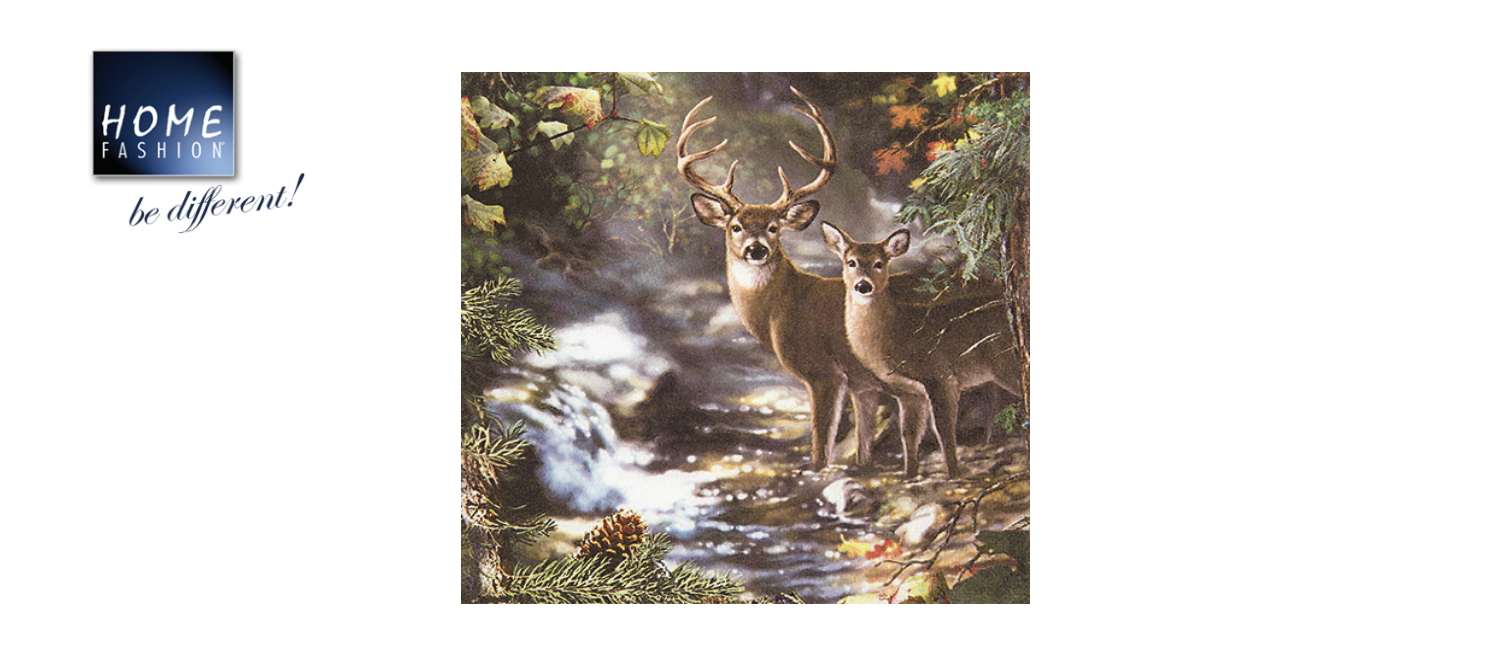 Deers on a Creek - 33x33