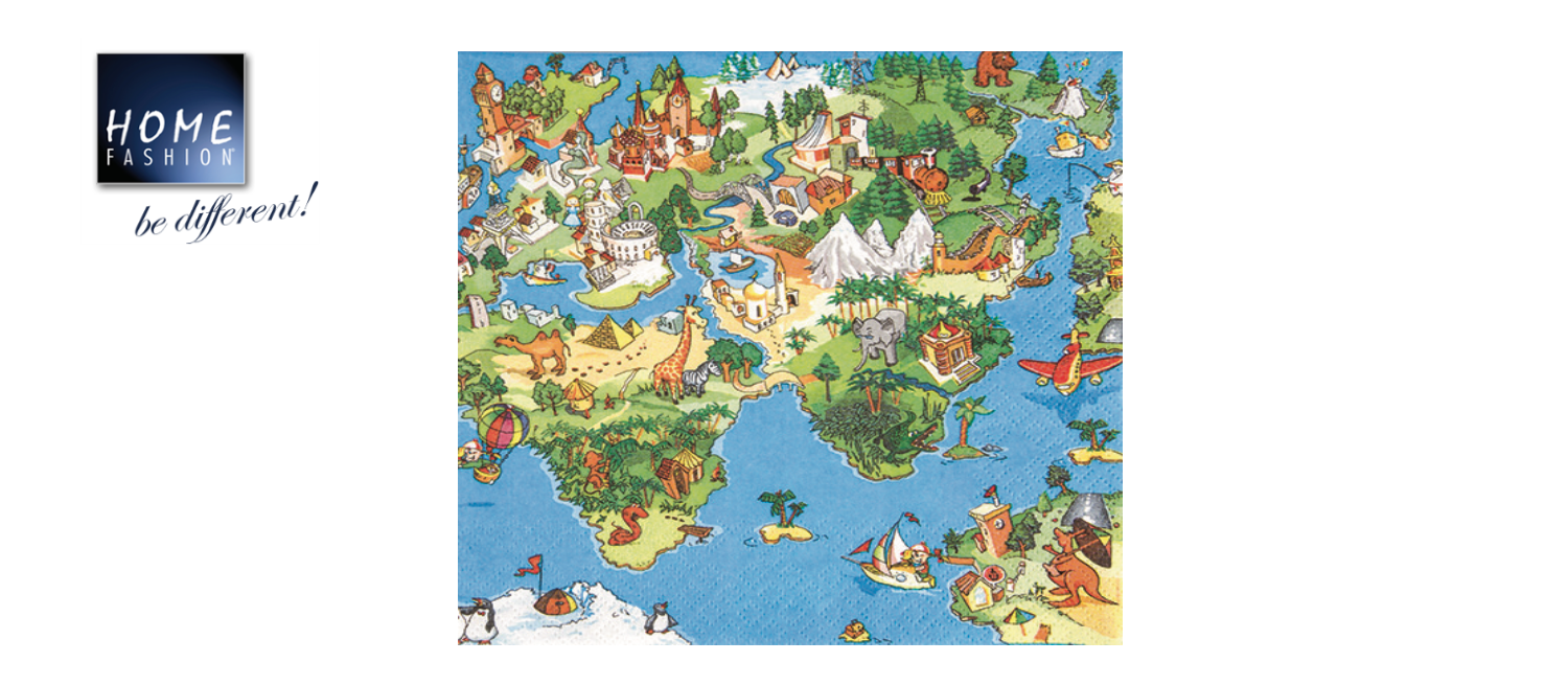 World for Kids  - Servietten 33x33