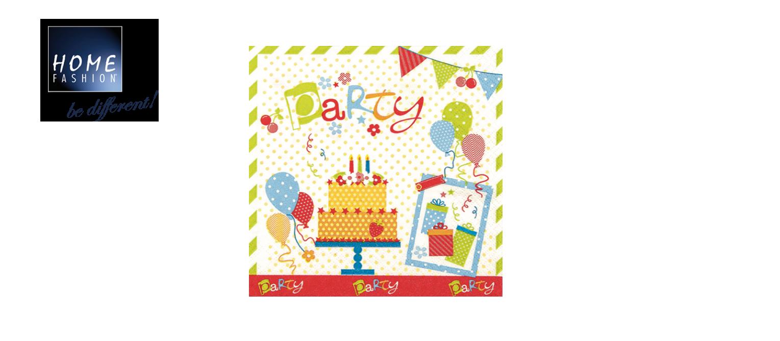 Party Party Party - Servietten 33x33