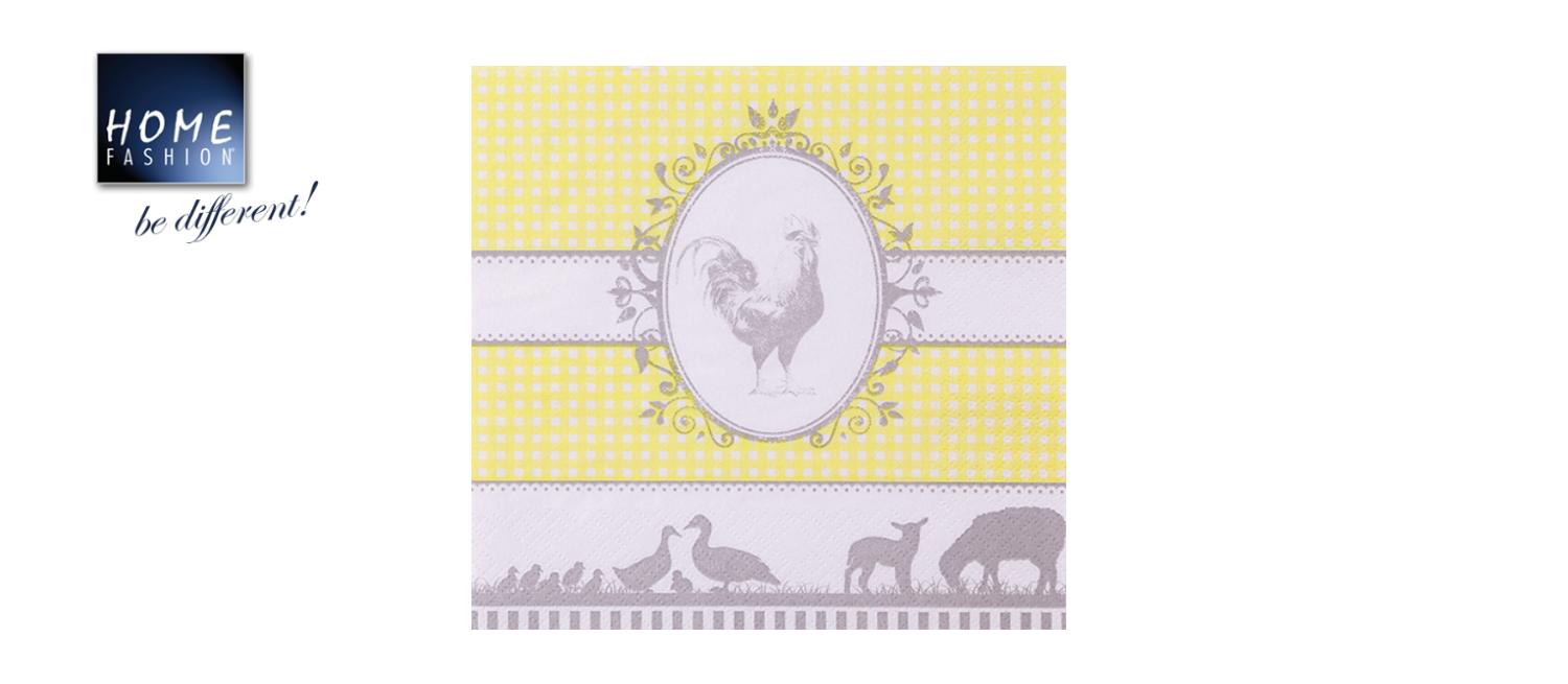 Country yellow - Servietten 33x33