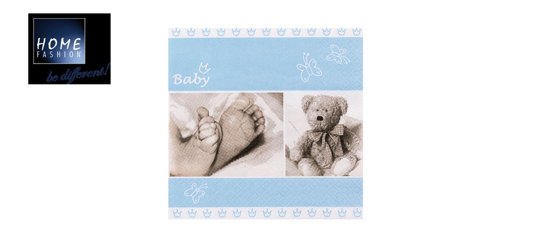 Baby Blue - Servietten 33x33