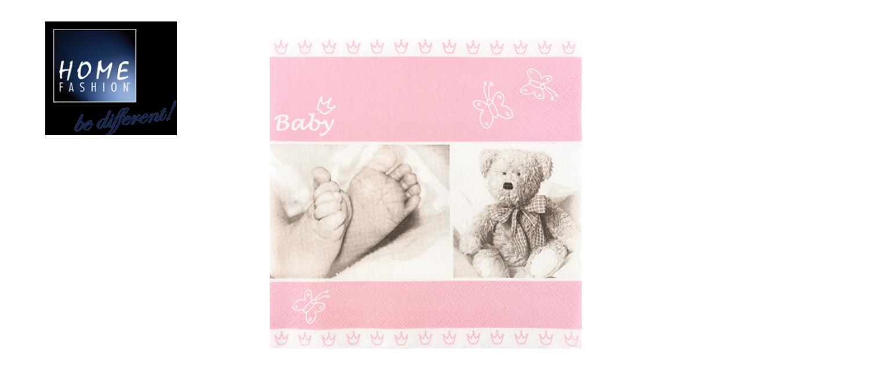 Baby rose - Servietten 33x33