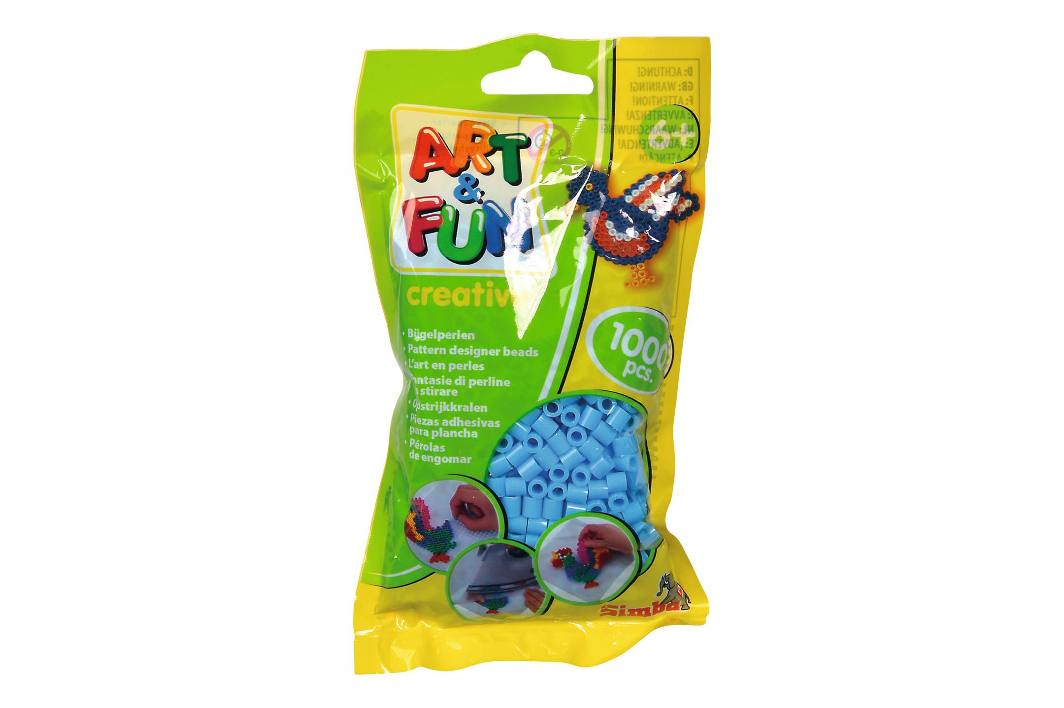 A&F 1.000 Bügelperlen im Beutel blau