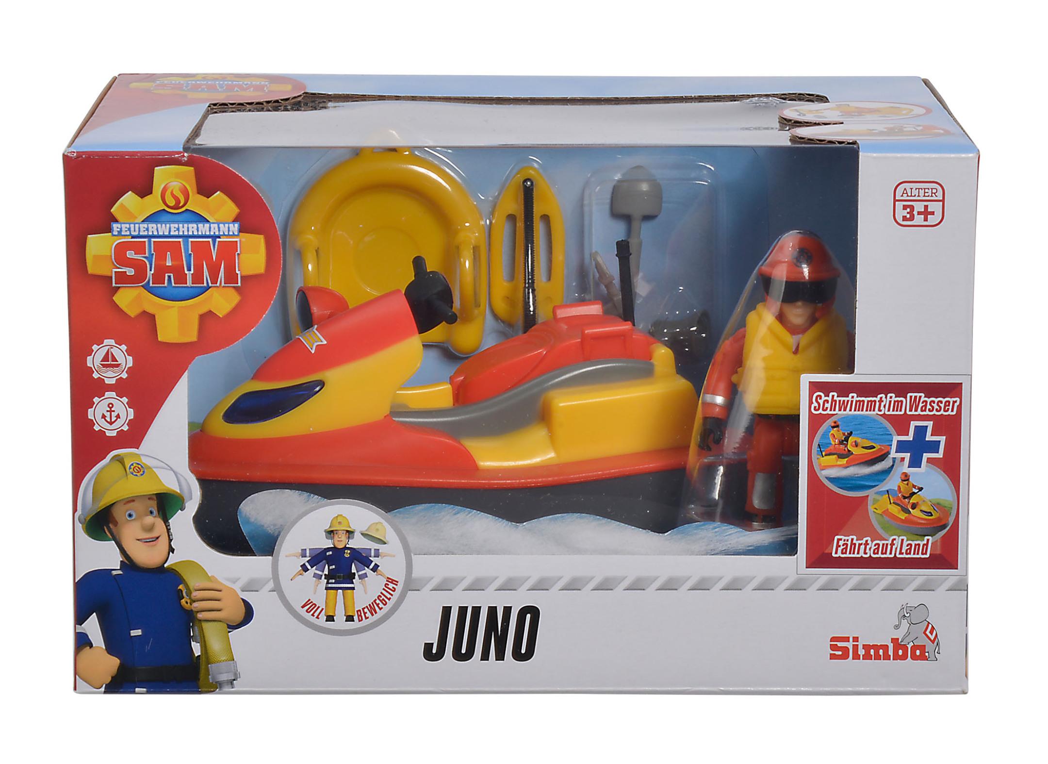 Fireman Sam Juno Jet Ski mit Figur