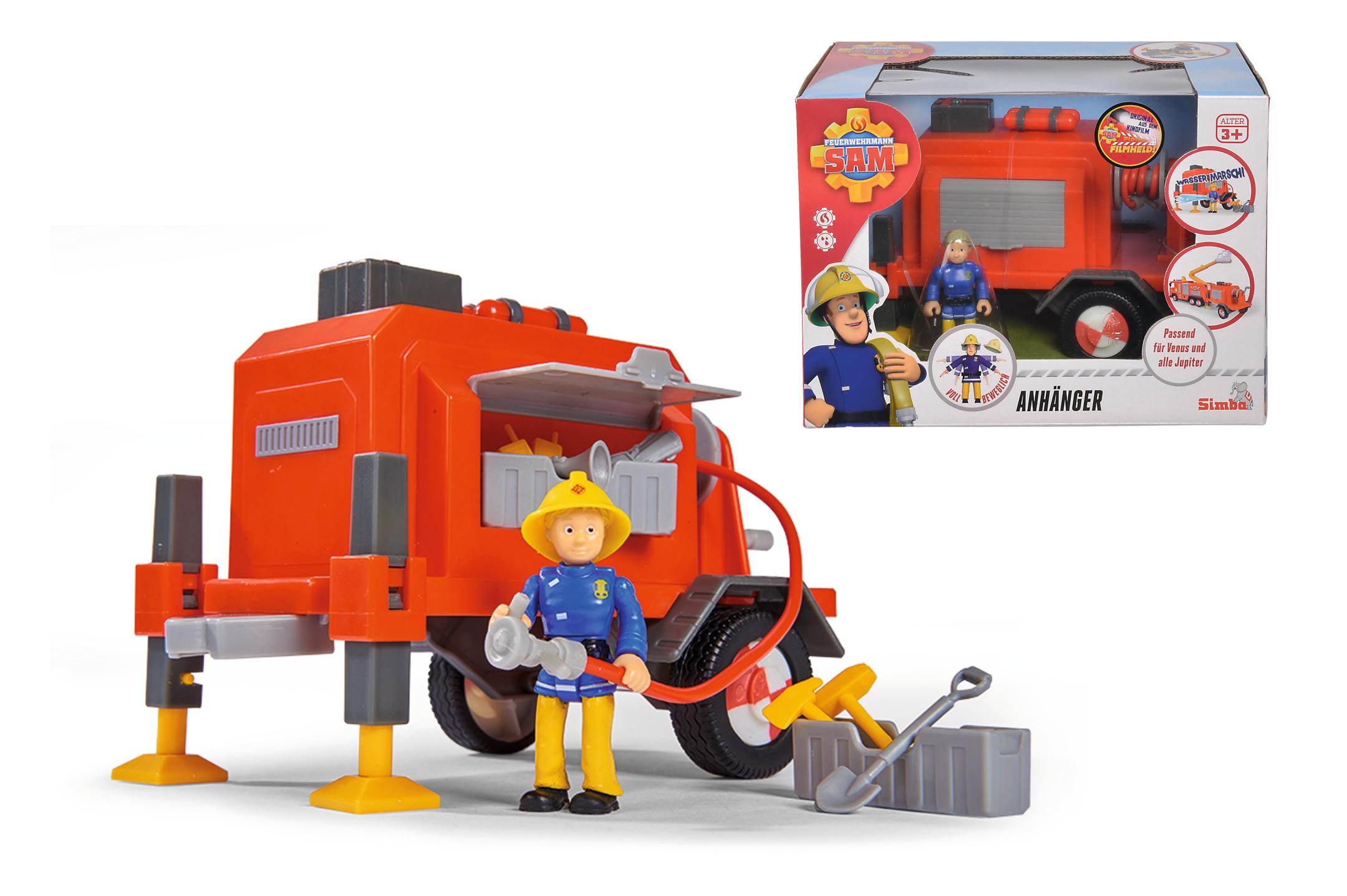 Fireman Sam Anhänger mit Figur