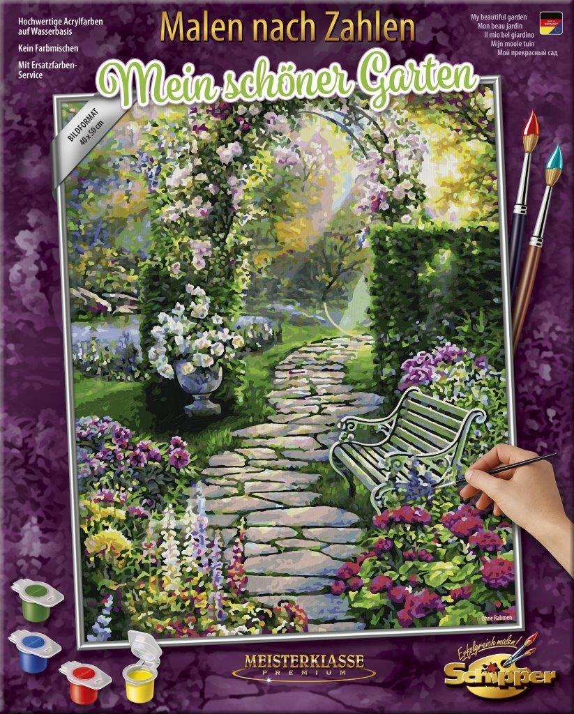 Malen nach Zahlen - Mein schöner Garten