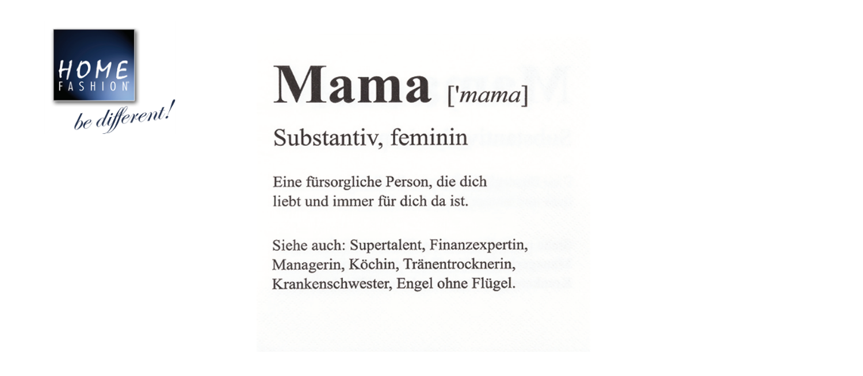 Mama - Servietten 33x33