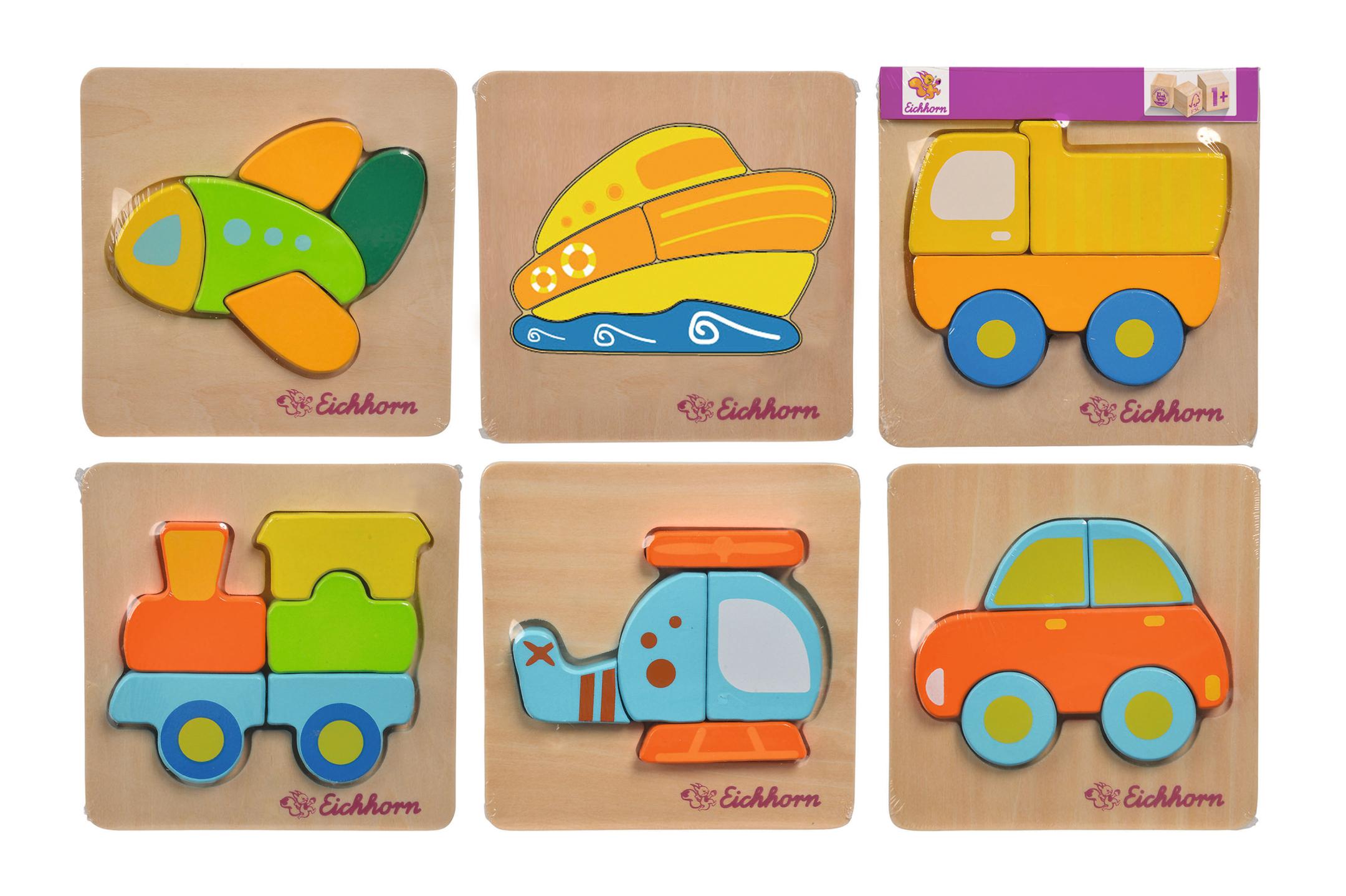 EH Mini Puzzle Fahrzeuge 6fs
