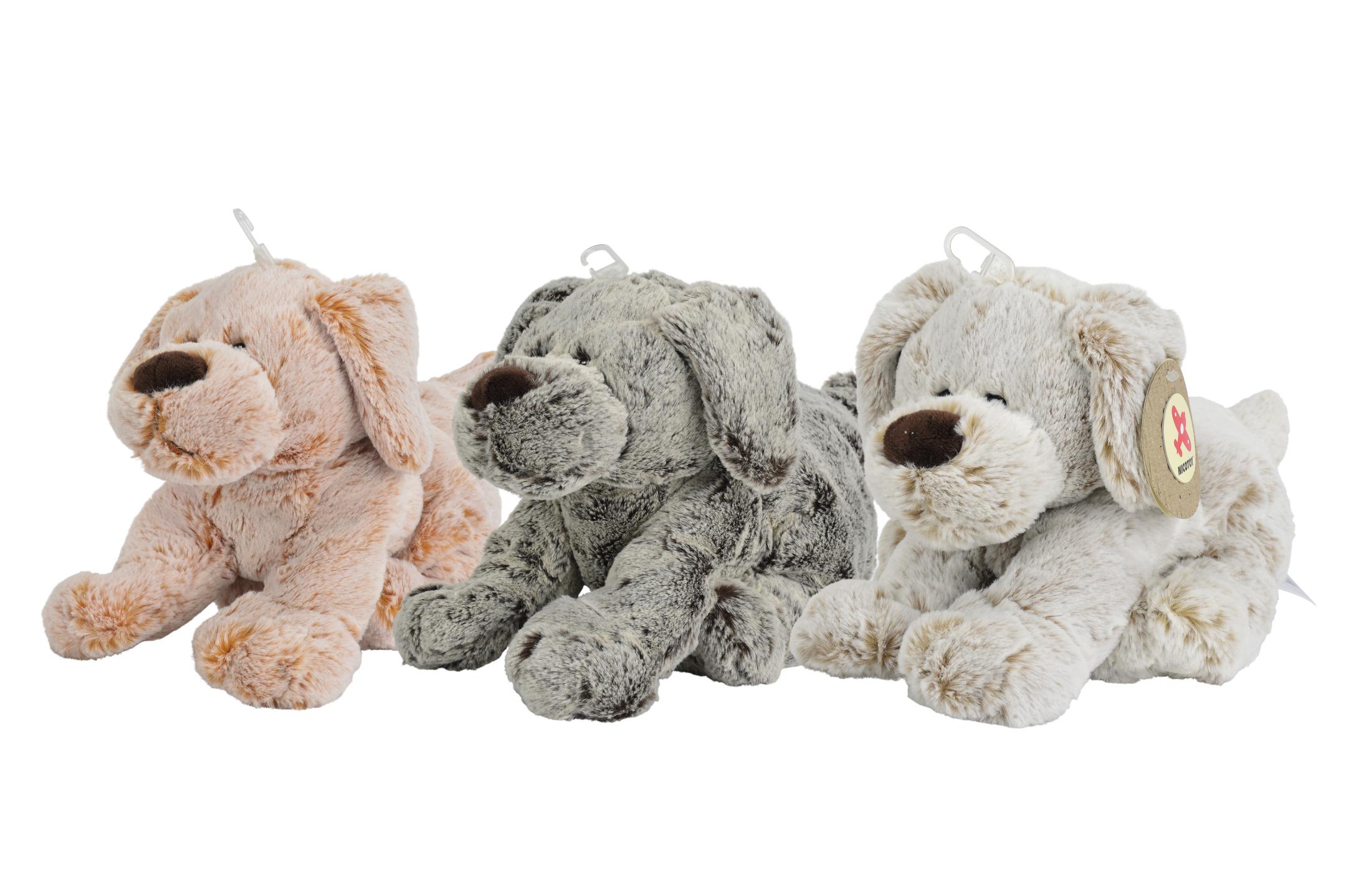 Nicotoy Plüsch Hunde 27cm 3fs