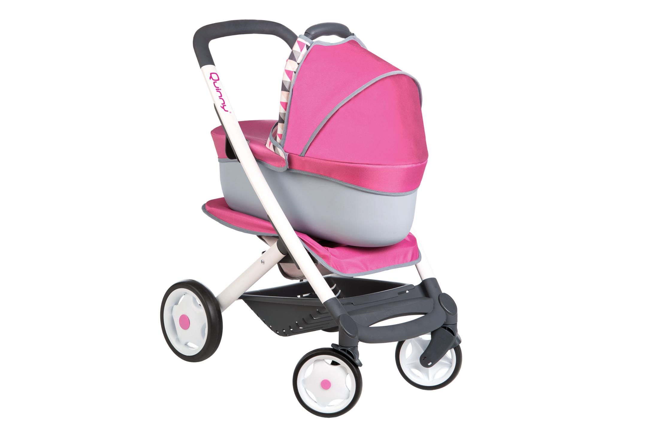 Quinny 3in1 Puppenwagen pink/grau