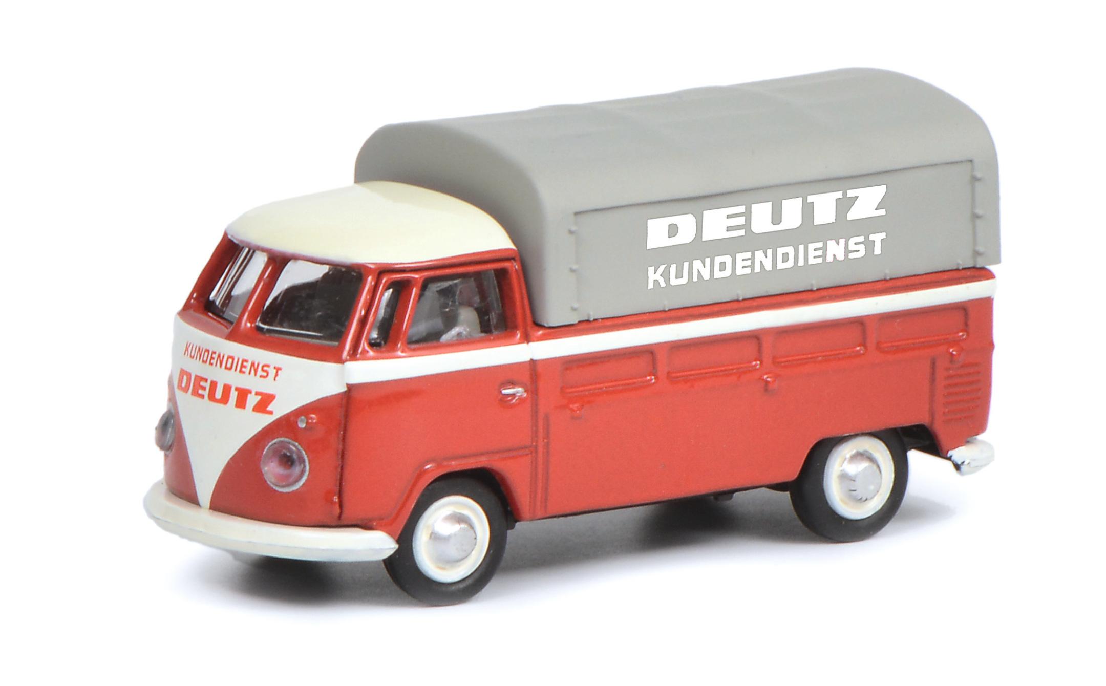 VW T1 Pritsche - Deutz Kundendienst 1:87