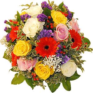 Blumenstrauss Blumenstrauß Blütenteller