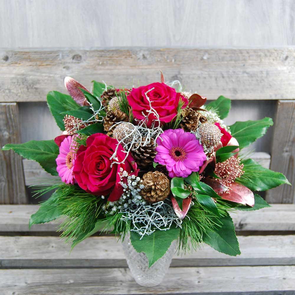 Blumenstrauss Pinker Adventszauber