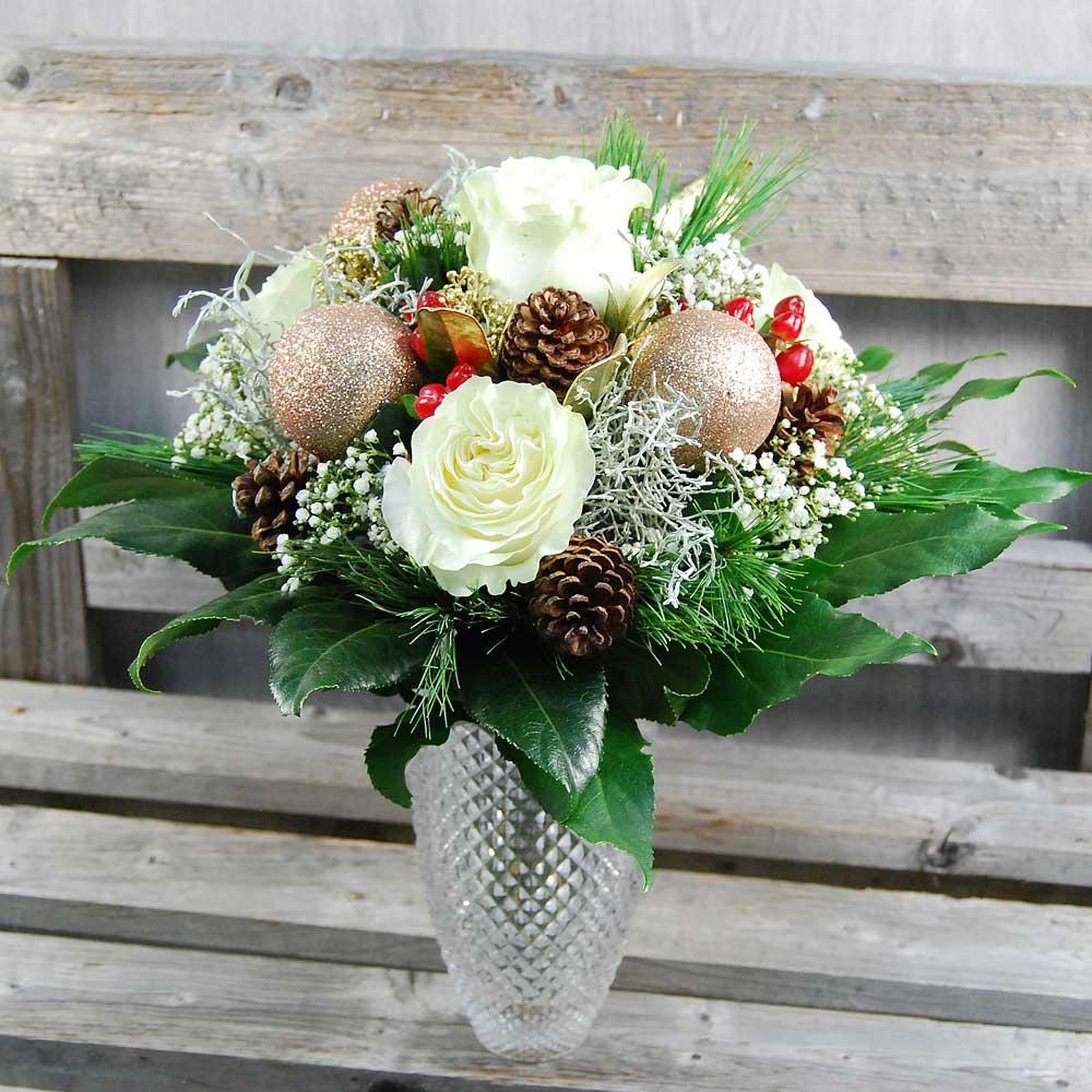 Blumenstrauss Weise Weihnacht